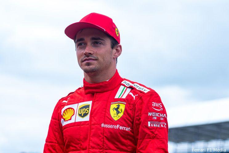 Leclerc hoopt op goed weer zondag: 'Dan kunnen we misschien voor het podium gaan'