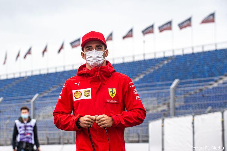 Leclerc start achteraan de grid in Rusland dankzij nieuwe Ferrari-motor