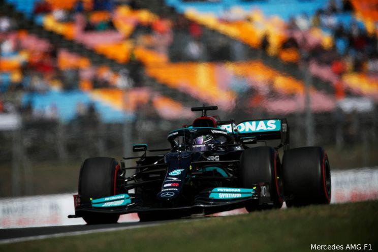 Hamilton geniet van 'toffe' baan: 'Met veel grip is het geweldig om te rijden hier'