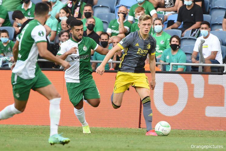Feyenoord speelt gelijk bij Conference League-debuut in Israël