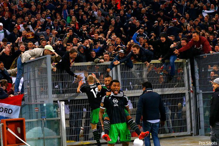 VIDEOGOAL: Kazim scoort voor Feyenoord in Rome: 1-1