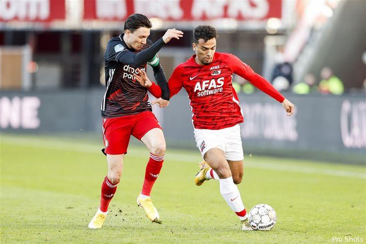 Eredivisie: Feyenoord zakt naar de vijfde plek