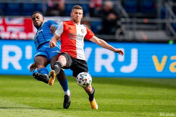 Eredivisie: Feyenoord blijft vijfde