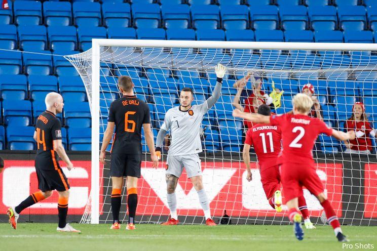 Bijlow debuteert met gelijkspel in Oranje