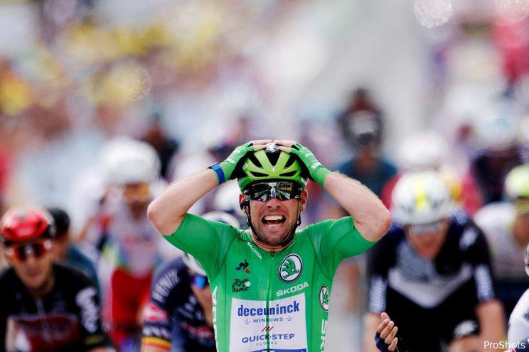 Cavendish favoriet tijdens negentiende etappe Tour de France
