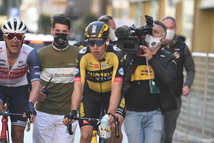 Wuyts over Milaan-Sanremo: 'Van Aert had in ideale wereld Roglic en Martin bij zich'