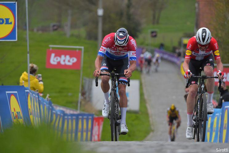 Asgreen klopt Van der Poel in de sprint na spannende Ronde van Vlaanderen