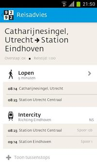 9292 OV - trein, bus, metro, & tram route planner