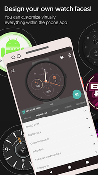 Watch Face - Pujie Black for Wear OS and Tizen