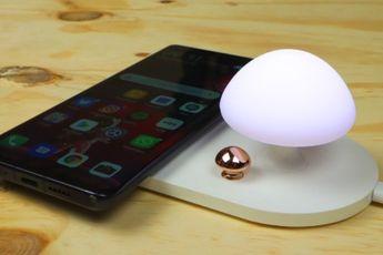 Aanbieding: Mushroom-draadloze oplader met (nacht)lampje