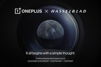 OnePlus 9-serie wordt op 23 maart onthuld met Hasselblad-camerasysteem