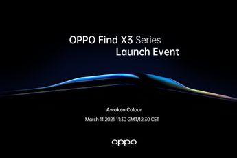 Officieel: OPPO Find X3-serie wordt op 11 maart aangekondigd