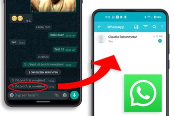 Zo lees je op WhatsApp alsnog de verwijderde berichten