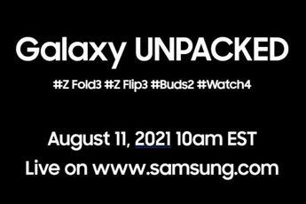 'Samsung lanceert de Z Fold 3, Z Flip 3 en Watch 4 op 11 augustus'