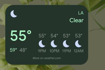 Google Weer-widgets nu in verschillende formaten uitgerold