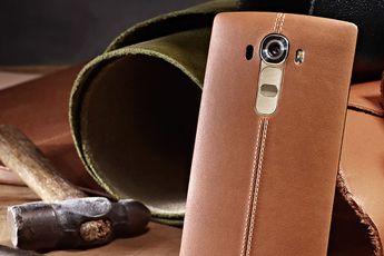 LG G4 in al zijn glorie te zien, met lederen achterkant