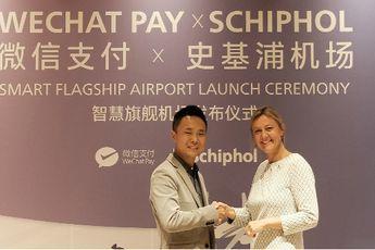 Schiphol maakt betalingen via WeChat Pay mogelijk voor Chinese reizigers