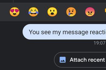 Google test emoji-reacties in Berichten à la Facebook Messenger