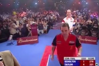 ON THIS DAY IN ... 2005: Taylor throws nine-dart finish against Scholten at UK Open