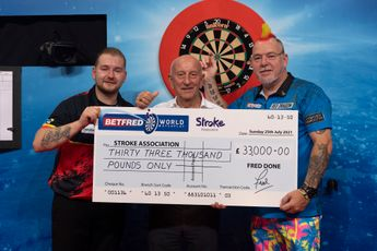 Betfred donate £33,000 to The Stroke Association following 2021 World Matchplay