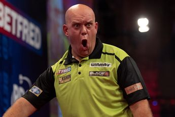 Van Gerwen survives late pressure from White to end World Matchplay Quarter-Final drought