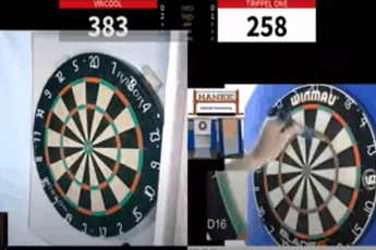 VIDEO: Cheater caught during online darts tournament