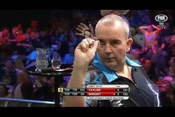 THROWBACK VIDEO: Taylor hits nine-dart finish during 2015 Sydney Darts Masters