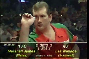 VERGESSENE DARTSPIELER: Marshall James erreichte 1997 bei seinem Debüt das Finale der BDO Weltmeisterschaft