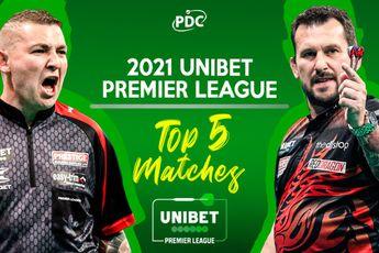 VIDEO: Dit waren de vijf beste wedstrijden van de Premier League Darts 2021