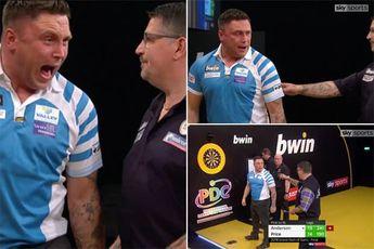 THROWBACK VIDEO: WK-finalisten Price en Anderson hadden eerder verhitte finale tijdens Grand Slam of Darts