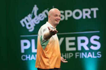 Speelschema woensdagsessie voor derde speelweek Online Darts League (Fase 4) met onder meer Caven en Adams