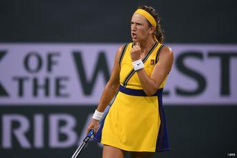 """I stepped up and I'm really happy"" says Victoria Azarenka after win over Pegula"