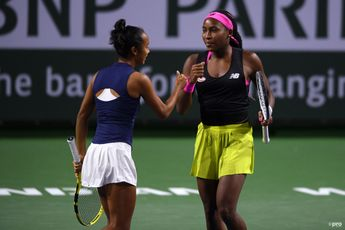 Gauff and Fernandez out of Indian Wells with defeat to second seeds Hsieh and Mertens