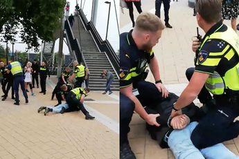 Het werd erg gezellig in Steenwijk toen politie betogers vroeg naar papieren