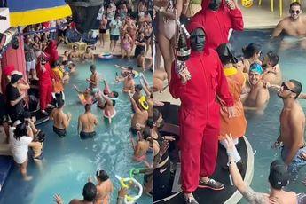 In een zwembad in vakantieparadijs Cancun spelen ze ook Squid Game