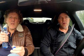 Kees van der Spek aka Cheese from the Bacon bij Andy van der Meijde in de auto