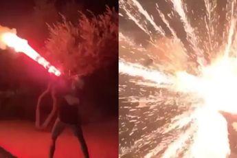Heldere lichten doen vuurwerk experiment
