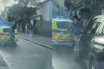 Agent remt niet lekker en tik collega een gebroken pootje in Londense wijk Mitcham