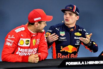 Vettel: 'Hoop dat Verstappen aan het einde van het jaar competitief materiaal heeft'