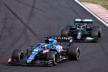 Alonso ziet gat van Alpine met Mercedes en Red Bull krimpen