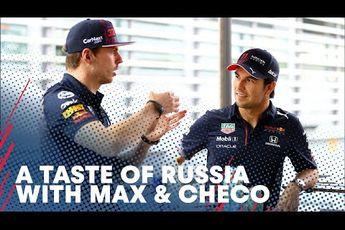Video | Red Bull-duo Verstappen en Perez testen Russische lekkernijen