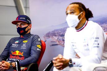 Horner ziet dat Hamilton ongeschreven regel breekt: 'Max stond vooraan'