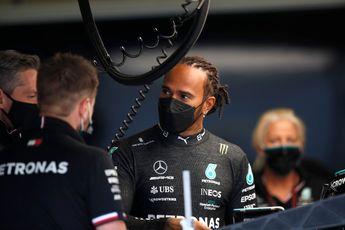 Boze Hamilton zit Wolff niet dwars: 'We hebben een dikke huid hier in het team'