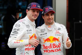 Update   Pérez: 'Daar plukken Verstappen en Red Bull de vruchten van'