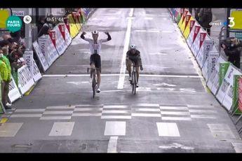 Sunweb beleeft topdag in Parijs-Tours: Pedersen wint, Nieuwenhuis derde