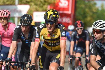 Jumbo-Visma slachtoffer bij massale valpartij Vuelta: 'Gesink en Hofstede lagen erbij'