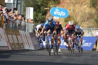 Valverde slaat bij rentree toe met ritzege en leiderstrui in Ronde van Sicilië (en valt na finish)