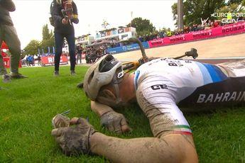 Colbrelli laat emoties de vrije loop na winst in Parijs-Roubaix: 'Ik weet niet wat me overkomt'