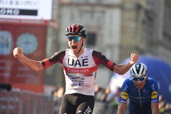 Oersterke Pogacar verslaat thuisrijder Masnada in enerverende finale Ronde van Lombardije