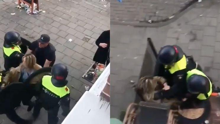 Beelden meppende agenten op Koningsdag in Amsterdamse Jordaan gaan viraal